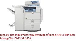 Dịch vụ sửa máy Photocopy Kỹ thuật số Ricoh Aficio MP 4001 giá rẻ hà nội